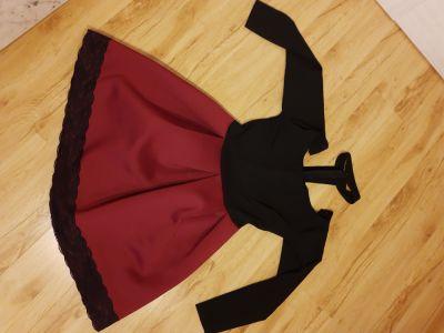 Suknie i sukienki Sukienka goth czarnoczerwona