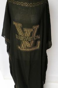 Pareo Czarne Louis Vuitton Czarne Long Plażowe Uniwersalny...