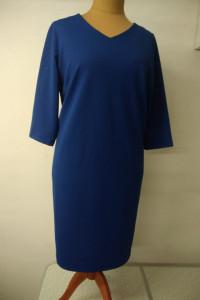 sukienka szafirowa prosty krój rozmiar 56...