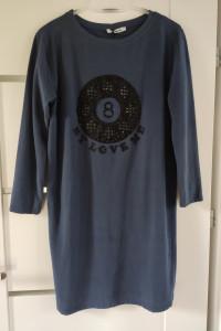 Sukienka krótka tunika dresowa granatowy czarny rozmiar uniwers...