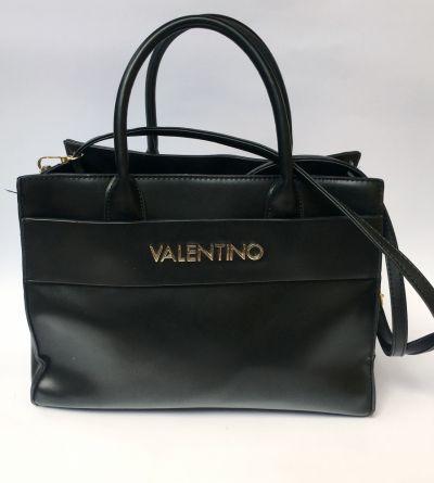 Torebki na co dzień Torebka Torba Czarna Valentino Shopperbag Złote Elementy