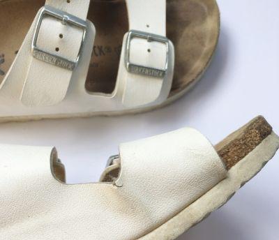 Klapki Klapki Białe Birkenstock 36 Sandały Biel Damskie
