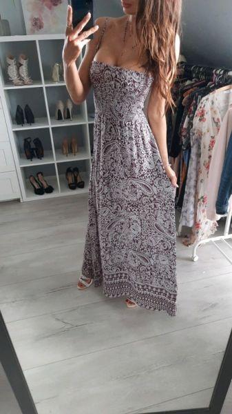 Suknie i sukienki Angel Women długa piękna sukienka na lato rozmiar s m