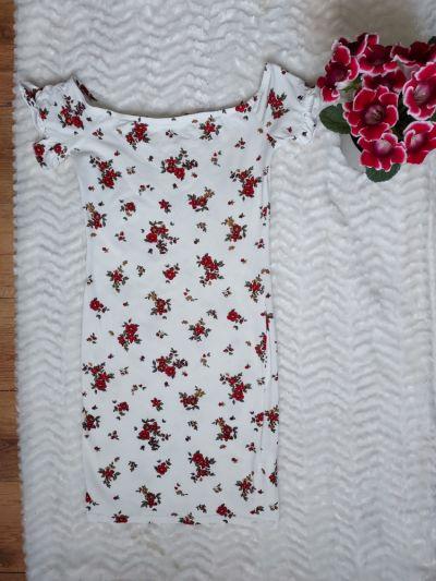 Suknie i sukienki Sukienka letnia zwiewna w kwiaty
