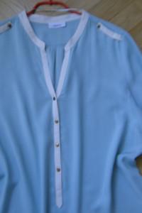 Jak NOWA bluzka tunika kolor mięty ze złotymi guzikami 40 42...