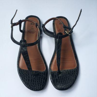 Sandały Sandały Czarne Japonki H&M 40 255 cm Sandałki Letnie