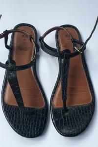 Sandały Czarne Japonki H&M 40 255 cm Sandałki Letnie