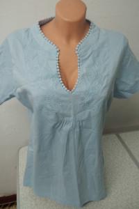 niebieska letnia bluzka bawełniana rozmiar 40 i 44...