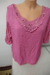 bluzka różowa nieregularny dół rozmiar uniwersalny...