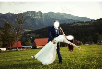 Suknie ślubne Piękna suknia ślubn muslim z koronką 34