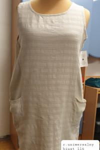 beżowa włoska sukienka rozmiar uniwersalny...