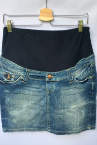 Spódniczka Ciążowa H&M Mama Dzinsowa Przetarcia M 38 Jeans...