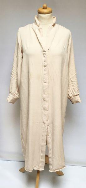 Suknie i sukienki Sukienka Beżowa H&M M Oversize Long Koszulowa