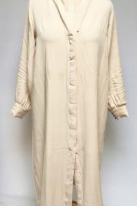 Sukienka Beżowa H&M M Oversize Long Koszulowa...