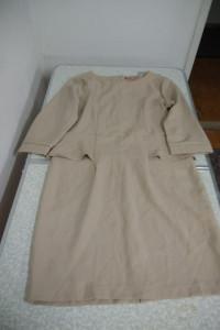 sukienka w 2 kolorach ciemny i jasny beż rozmiar 44...