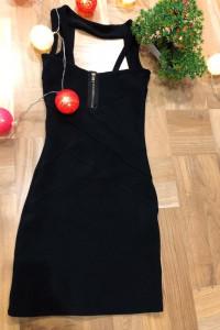 Czarna sukienka Bay bez plecow rozmiar S...