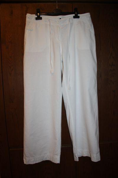 Spodnie Lniane białe spodnie firmy NEXT rozmiar 42