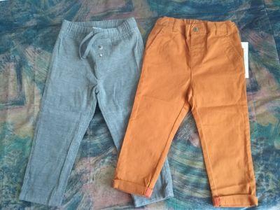 Spodnie i spodenki Spodnie chłopięce dwie sztuki