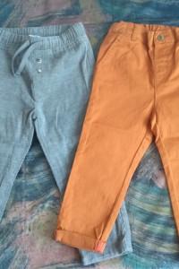 Spodnie chłopięce dwie sztuki...