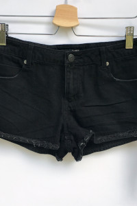 Spodenki Szorty Czarne Frędzle Cubus 36 S Krótkie Shorts...