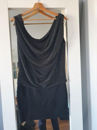 Suknie i sukienki Sukienka 38 M amisu brokatowa czarna