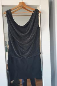 Sukienka 38 M amisu brokatowa czarna...