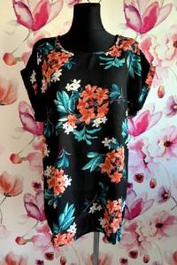 yours bluzka luźny fason modny wzór kwiaty jak nowa hit 44