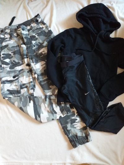 Spodnie Bershka bojówki moro xs gratis
