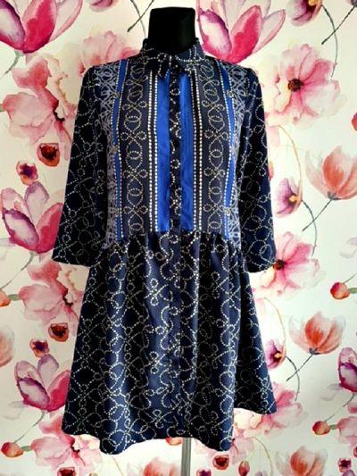 Suknie i sukienki yessica c&a sukienka rozkloszowana koszulowa modny wzór hit 36