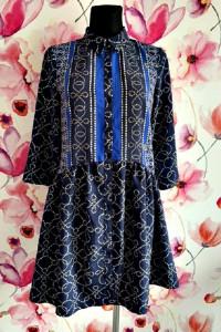yessica c&a sukienka rozkloszowana koszulowa modny wzór hit 36...