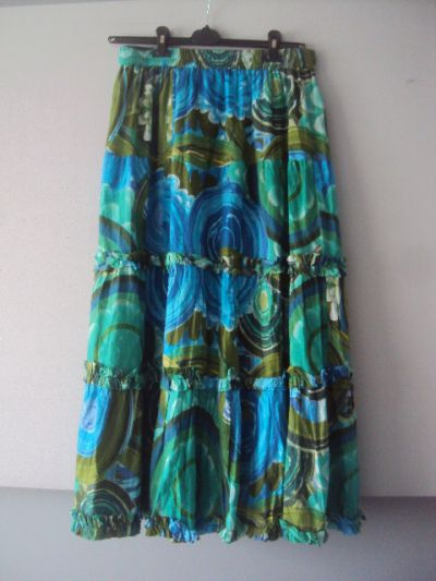 Spódnice kolorowa spódnica maxi