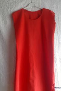 Czerwona bawełniana sukienka L XL...
