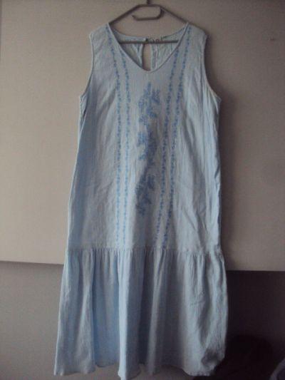 Suknie i sukienki letnia sukienka z haftem