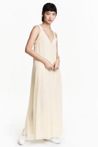 Nowa sukienka H&M 44 XXL 2XL szyfonowa maxi wiskoza boho...