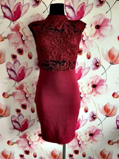Suknie i sukienki boohoo sukienka ołówkowa gipiura odkryte plecy jak nowa 36