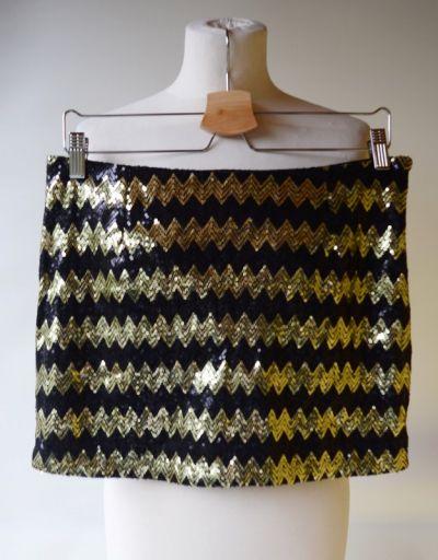 Spódnice Spódniczka Cekiny Vero Moda S 36 Złota Czarna