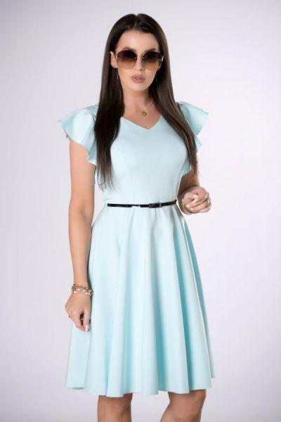 Suknie i sukienki sukienka 36 38 40 42 44 M84243 kolory falbana pasek