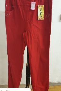 czerwone rozciągliwe spodnie rozmiar 42...