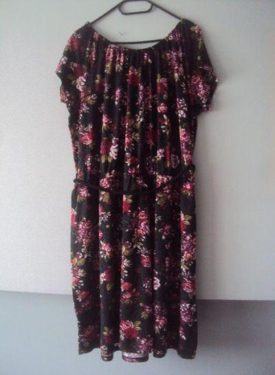 Suknie i sukienki dzianinowa sukienka w kwiatuszki