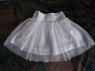 Sukienki i spódniczki Biała spódniczka tiulowa 86