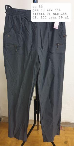 Spodnie szare spodnie w pasie na gumie rozmiar 44