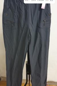 szare spodnie w pasie na gumie rozmiar 44