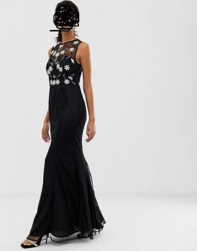 Suknie i sukienki Długa czarna sukienka 38