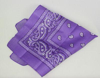 Chusty i apaszki Fioletowa bandana liliowa fiolet milka