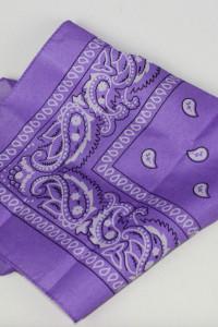 Fioletowa bandana liliowa fiolet milka...