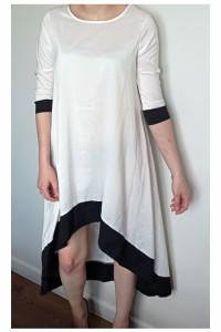 Biała sukienka asymetryczna