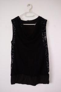 Brązowo czarna bluzka z siatką gothic vintage fishnet...