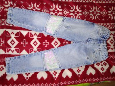 Spodnie i spodenki Śliczne rurki z mieniącymi się cekinami