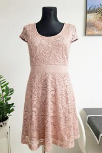 koronkowa sukienka brudny róż...