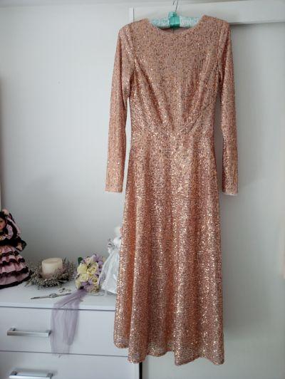 Suknie i sukienki Cekinowa sukienka maxi S